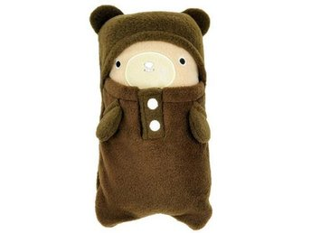 NY! Cute Bear Folding Barn Blanket! Coffee