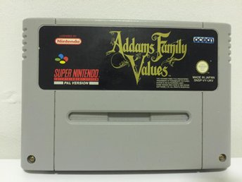 Addams Family Values - Super Nintendo - Svensksålt