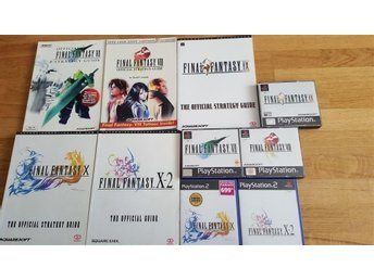Final Fantasy samling! Final Fantasy 7, 8 , 9, 10 och 10-2 med guider till!