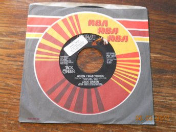 "JACK GREEN - When I was young/Promises, 7"" RCA USA 1981"