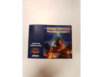 Wizards & Warriors II Ironsword - Manual NES NINTENDO - USA
