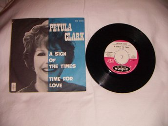 vinyl 45 rpm Petula Clark - a sign of the times + 1