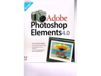 Adobe Photoshop Elements 4.0 FRI  FRAKT i Sverige. Bildbehandling Enkelt TOPPEN!