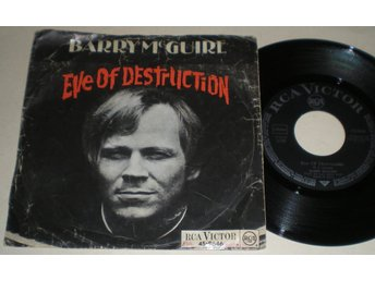 Barry McGuire 45/PS Eve of destruction 1965
