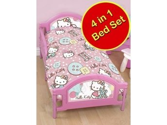 "HELLO KITTY BÄDDSET, SUPERPAKET ""4-I-1"", JUNIOR"