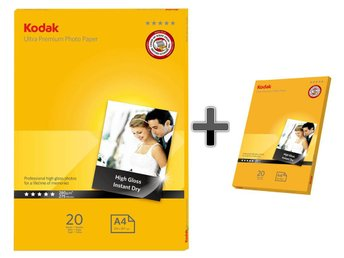 Fotopapper 20st A4 + 20st 10x15 280g Glossy