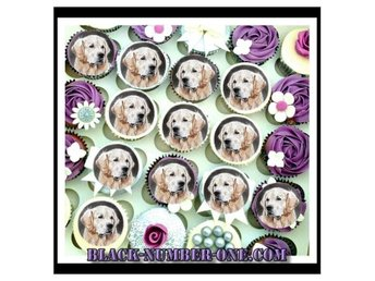 Golden retriever - Cupcake toppers