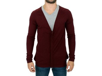 Costume National - Bordeaux zipper cardigan sweater
