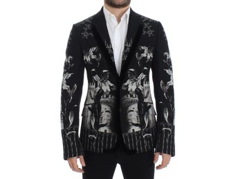 Dolce & Gabbana - Black wool knight slim blazer