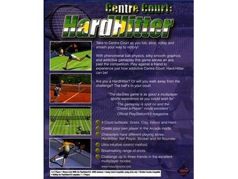 Centrecourt Hard Hitter TENNIS / PS2 PS3 / NY JULKLAPP