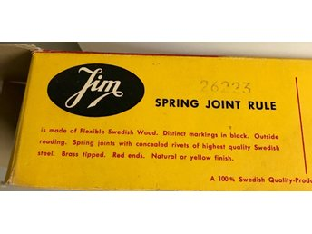 Tumstock  JIM 1 M, MADE IN SWEDEN BÖJLIG Original 50 - tal.