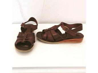 277756035d6 ECCO sandaler dam 41 äkta läder skonsam sula bruna boho bohem skor som nya!