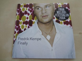 Fredrik Kempe Finally Melodifestivalen 2004 CD Singel