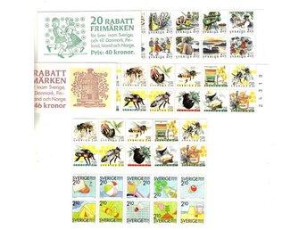 60 st Postfriska Rabattfrimärken för Nordenbrev - Gävle - 60 st Postfriska Rabattfrimärken för Nordenbrev - Gävle