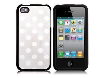 Dots Metallic - ClickOn (Silver) iPhone 4/4S Skal