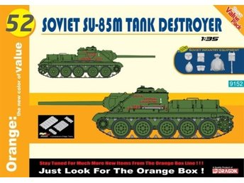 CyberHobby (by Dragon) 1/35 Soviet SU-85M Tank Destroyer 1/35 BONUS: Soviet infa