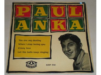 Paul Anka OMSLAG EP You are my destiny 1958