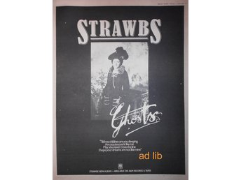 STRAWBS - GHOSTS, STOR TIDNINGSANNONS 1975