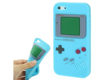 iPhone 5/5S Silikonskal Game Boy Ljusbl?