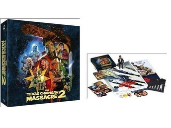 Texas Chainsaw Massacre 2 (Limited BOX + NECA Staty! Affisch) Mediabook 1986
