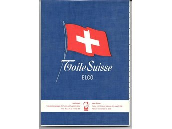 Olinjerat brevpapper Toile Suisse ELCO i format A5