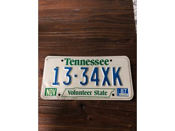 Tennessee registreringsskylt nummerskylt license