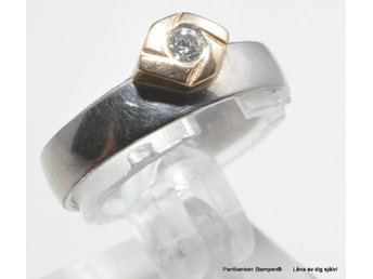 Pant:Diamantring  18k 4,5gr Ø17,30mm 1x0,07ct ref:L8950/1805