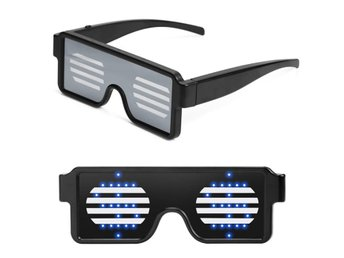 LED Light Up Glasses for Nightclub Halloween Christmas Birthday Party blue Light