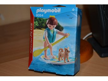 Surfare Paddel m. Hund Hawaii Playmobil 9354 (Special Plus) Figur Ny