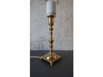 2 st. LAMPOR mässing bordslampa fönsterlampa SOM NYA lampa