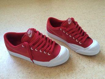 "Nike All Court Low ""Canvas"" Varsity Red/White"