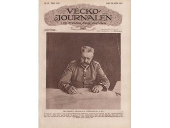Vecko Journalen 1917-39 Hindenburg 70 År..Martin Luther