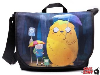 Adventure Time Totoro Style Messenger Bag Svart
