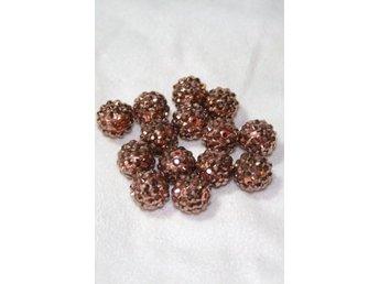 Glitter pärlor 14mm BRONZE - 4st - Bålsta - Glitter pärlor 14mm BRONZE - 4st - Bålsta
