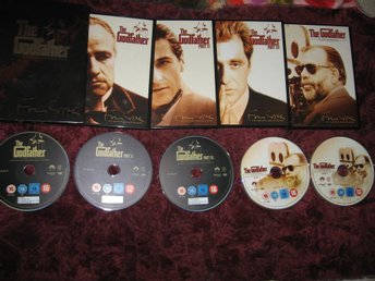 THE GODFATHER THE COPPOLA RESTORATION (GUDFADERN 1+2+3+EXTRA MATERIAL)5-DISC DVD