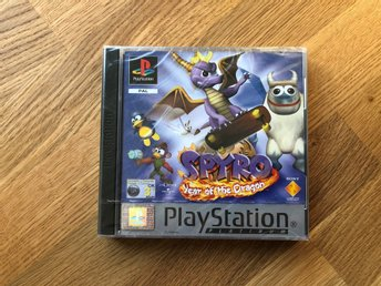 Spyro: Year of the Dragon (NYTT/OANVÄNT), CIB, PS1 PAL Edition. Ovanlig auktion