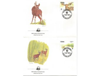 Ghana, Bongoantiloper, World wildlife fund 1984, FDC