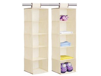 5 SECTION SHELVES HANGING WARDROBE SHOE
