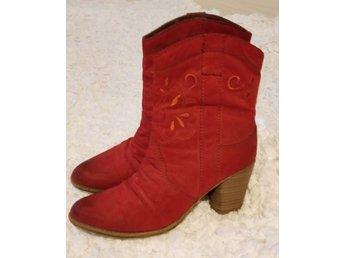 röda mocka boots