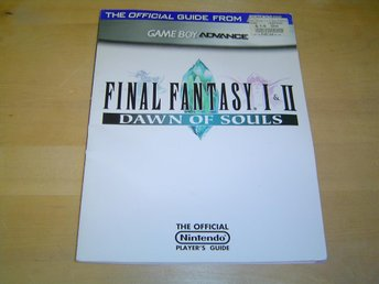 FINAL FANTASY 1 & 2 DAWN OF SOULS GUIDE BRADY GAMES GBA GAMEBOY ADVANCE