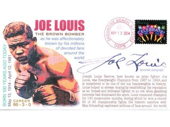 100th Anniversary of the Birth of Joe Louis Event Cover Boxing