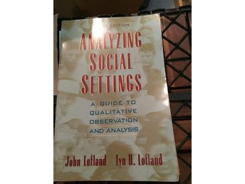 Analyzing social settings -Lofland
