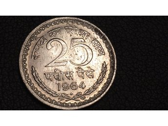 1964 India 25 Paise