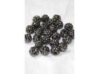Glitter pärlor 14mm Black Diamond - 4 st - Bålsta - Glitter pärlor 14mm Black Diamond - 4 st - Bålsta
