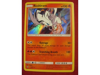 RESHIRAM - 130 HP - RARE HOLO - POKEMON SHINING LEGENDS - 14/73