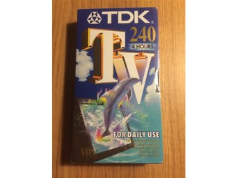 VHS videoband TDK TV 240 (4 timmar) inplastad - Halmstad - Nytt och inplastat inspelningsbart VHS-band - Halmstad