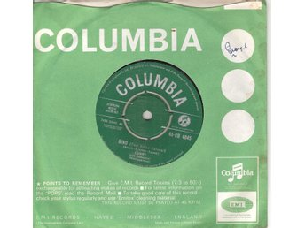 Eurovision 1962 Germany: Conny – Gino – SUNG IN ENGLISH – Vinyl 45