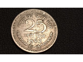 1963 India 25 Paise