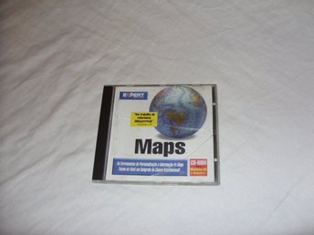 Expert Software Maps PC CD ROM program geografi kartor världen 1995 retro