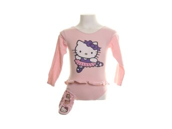 Hello Kitty, Ballerinadräkt, +ballerinaskor, Strl: 92-104, Rosa